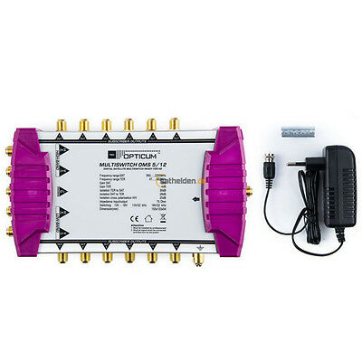 Opticum OMS 5/12 gold line Sat Multiswitch Multischalter 1Satellit 12 Teilnehmer