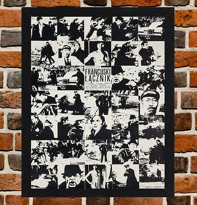 Framed The French Connection Polish Movie Poster A4 / A3 Size In Black Frame