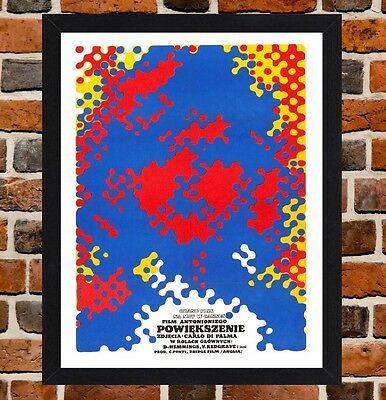 Framed Blow Up Polish Movie Poster A4 / A3 Size Mounted In Black / White Frame
