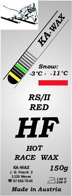KA-WAX, Skiwax RS/II, rot, Rennwax, High Fluor, HF Hot WAX, 150g, Alpin