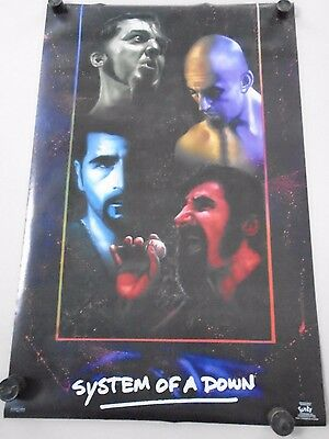 "System of a Down / Orig. Poster #9087 / ""Faces""  Exc.+ new cond.- 22 x 34"""