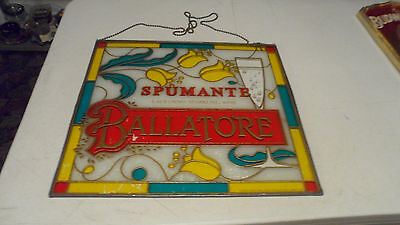 Rare Ballatore Spumante Wine Beer Stained Glass Mirror Sign  Only One On Ebay