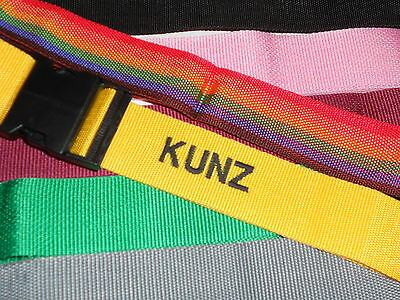 Personalized Luggage Strap- Pick your color!  NEW! embroidery included
