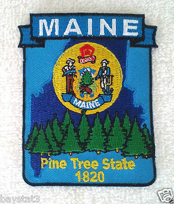 *** MAINE STATE MAP *** Biker Patch PM6720-2 EE