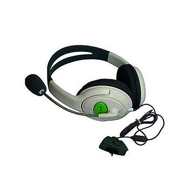 Gaming Chat Headset Headphone with MIC Microphone for Xbox 360 Live Game White