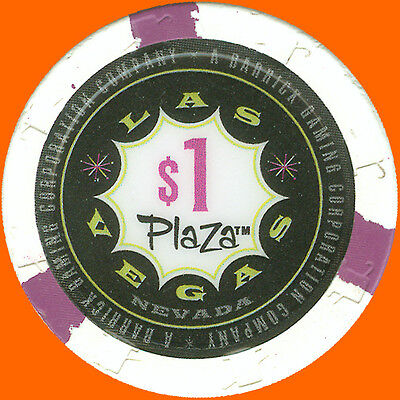 Plaza $1 2004 Casino House Chip Downtown Las Vegas Nv - Free Shipping