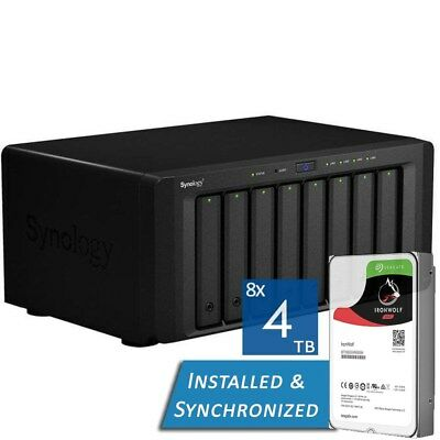 Synology DS1815+ DiskStation 8 Bay NAS Quad Core 2GB RAM - 32TB Seagate