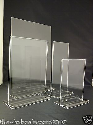 Plastic Acrylic Perspex Menu Holder Display Leaflet Flyer Stands A3 A4 A5 A6 DL