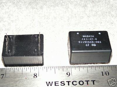 Dual Voltage Sealed Wabash Latching 2 Pole Reed Relays-Look!