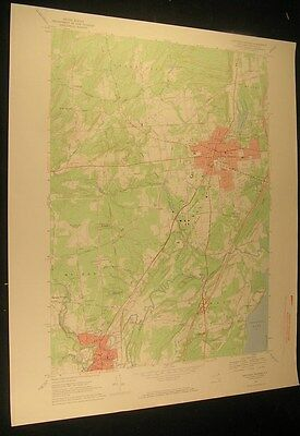 Saratoga Springs New York Ballston Spa 1969 vintage USGS original Topo chart map