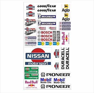 Nissan Logo Autoaufkleber Sponsoren Marken Aufkleber Decals Tuning Sticker Set