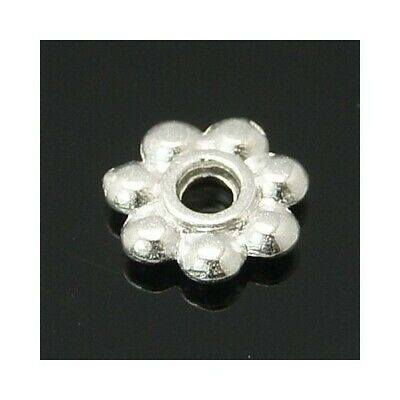 Tibetan Flower Spacer Beads 6mm Silver 100+ Pcs Art Hobby DIY Jewellery Making