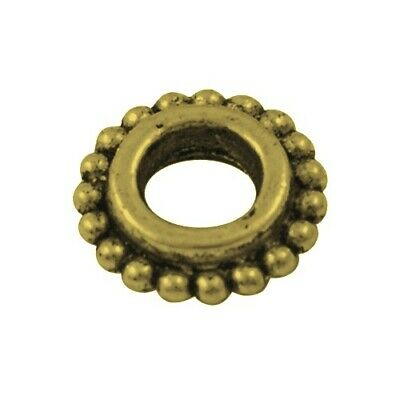 Tibetan Donut Spacer Beads 8mm Antique Bronze 30 Pcs Art Hobby Jewellery Making