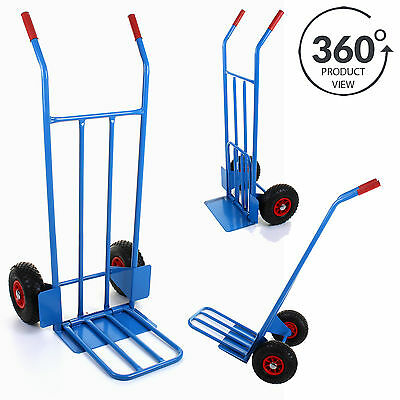 Heavy Duty 600LB Sack Truck Industrial Hand Trolley Warehouse Pneumatic Tyre NEW