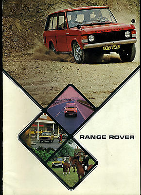 (84) Catalogue Range Rover 1973