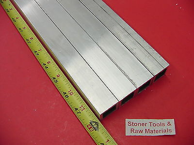 "4 Pieces 1""x 1""x 1/8"" Wall x 48"" Long ALUMINUM SQUARE TUBE 6063 T52 1""SQ x .125"""