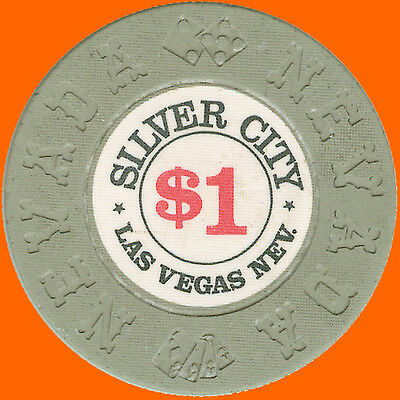 Silver City $1 1975 Casino House Chip Las Vegas Nv - Free Shipping