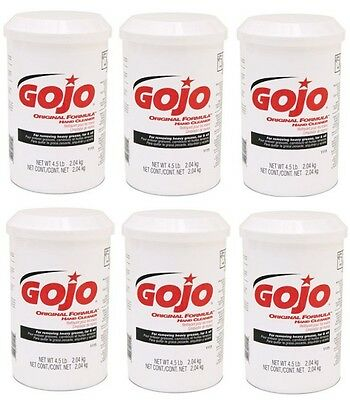 (6) GOJO 1115-06 4.5 Lb Original Hand Cleaner Cartridges for # 1204 Dispenser