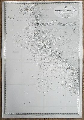 1900 Africa Cape Verde To St Ann West Coast Vintage Admiralty Chart Map