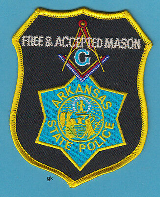 Arkansas State Police Mason Masonic Shoulder Patch