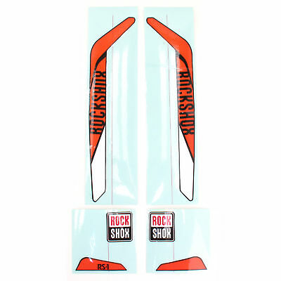 RockShox RS-1 XX Replacement Decal Set // Orange/White