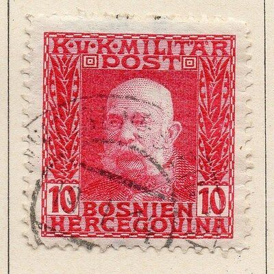 Bosnia Herzegovina 1912 F Joseph Early Issue Fine Used 10h. 045088