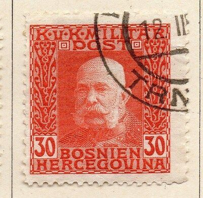 Bosnia Herzegovina 1912 F Joseph Early Issue Fine Used 30h. 045092