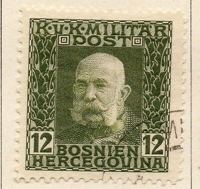 Bosnia Herzegovina 1912 F Joseph Early Issue Fine Used 12h. 045089