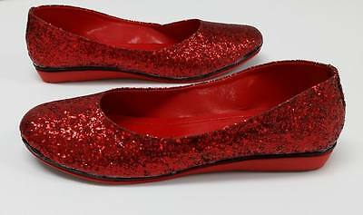 SHUMAXX Ladies Womens Sparkle Glam Glitter RED Party Wedding Shoes