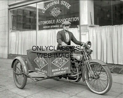'23 Harley Davidson Motorcycle Sidecar Photo California Aaa Broken Glass Carrier
