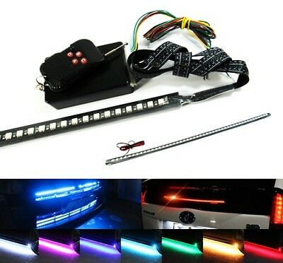 "7 Color 48 RGB LED Flash Strobe Scanner Knight Rider Kit 24"" Glow Bar Waterproof"