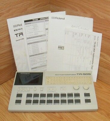 Vintage Roland (TR-505) Drum Machine Rhythm Composer With Manual **READ**