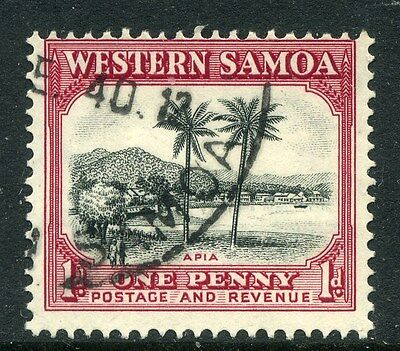 SAMOA;  1935 early pictorial issue fine used 1d. value