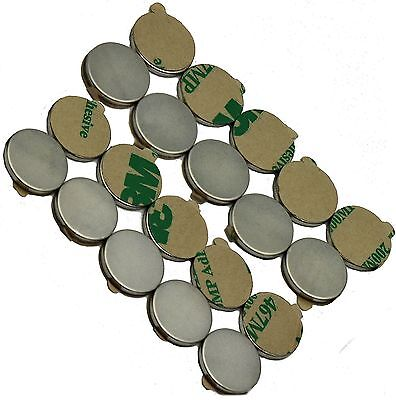 "1/2"" x 1/16"" Disc Magnets - Adhesive Backed - Neodymium Rare Earth"