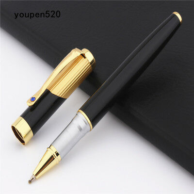 High quality Jinhao 9009 Gold black Business office Medium Nib Rollerball Pens