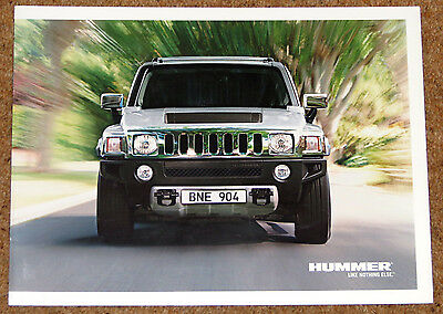 2008 HUMMER H2 and H3 Sales Brochure - GERMAN MARKET - 6.2 V8, 5.3 V8, 3700