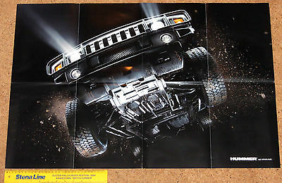 2007 HUMMER H2 and H3 Sales Brochure Poster - 6.0 V8, 3700 Vortec