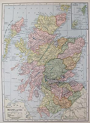 1931 Antique SCOTLAND MAP Gallery Wall Art Vintage Map of Scotland #2680