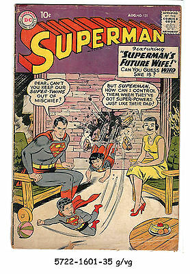 Superman #131 (Aug 1959, DC) g/vg