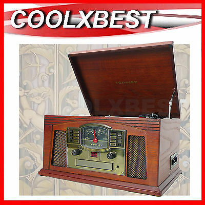 Crosley Lancaster Turntable Cd Cassette Radio Music Player Art Deco Design (Rfb)