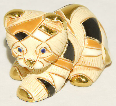 """Rinconada - Black & Gold - Calico Cat - Laying 3"""" Collectable Figurine #1701"""