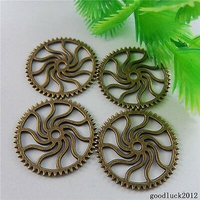 50833 Antique Bronze Alloy Gear Wheel Shape Charms Pendants Findings Crafts 37x
