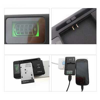 New YIBOYUAN Universal Battery Charger + USB-Port For Smartphone Battery