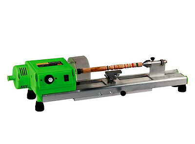 Precise Mini Wood Lathe Machine Mini DIY Woodworking Lathe Drill For Cup,Plate