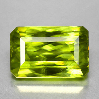 4Cts Gorgeous Precision Emerald Cut Natural Green Sphene