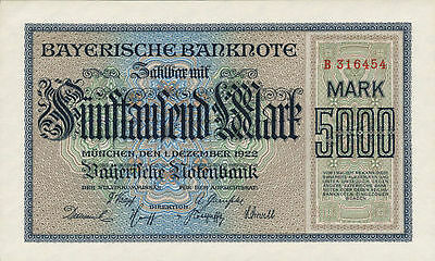 Ro.Bay06  Bayern 5.000 Mark 1922