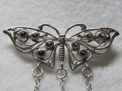 Butterfly Sterling Silver Chatelaine Pin - New (Last Ones!)