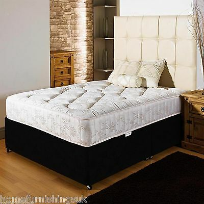 ORTHOPEDIC DIVAN BED SET + MATTRESS + HEADBOARD SIZE 3FT 4FT6 Double 5FT King