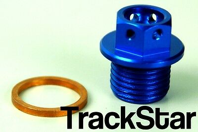 Ktm 450 Sxf Exc Exc-F Xc Xc-W Cnc Machined Magnetic Sump Plug Bolt Blue