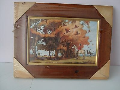 Wooden framed Picture  Breaking Covers - Pheasants